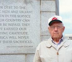 Robert Braden at WWII Memorial (tctimes.com)