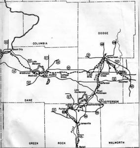 Black Hawk's route through Wisconsin [7].