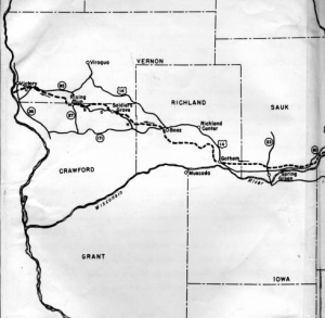 Black Hawks route through Wisconsin [7].