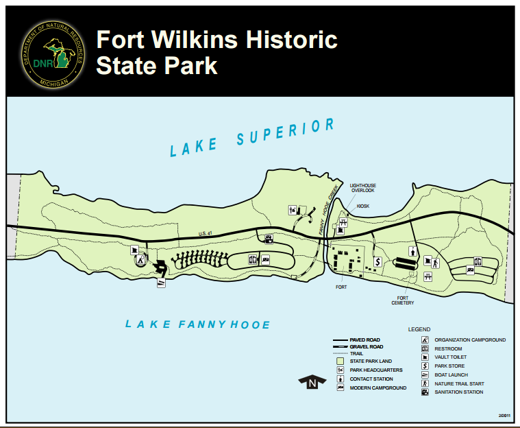 Fort Wilkins Camoground Map