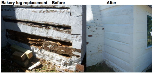 Restoration Effort on the Bakery Exterior
