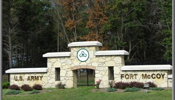 Gate of Ft. McCoy, Wisconsin