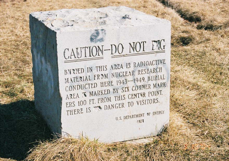 Marker at Plot M (Public Domain)