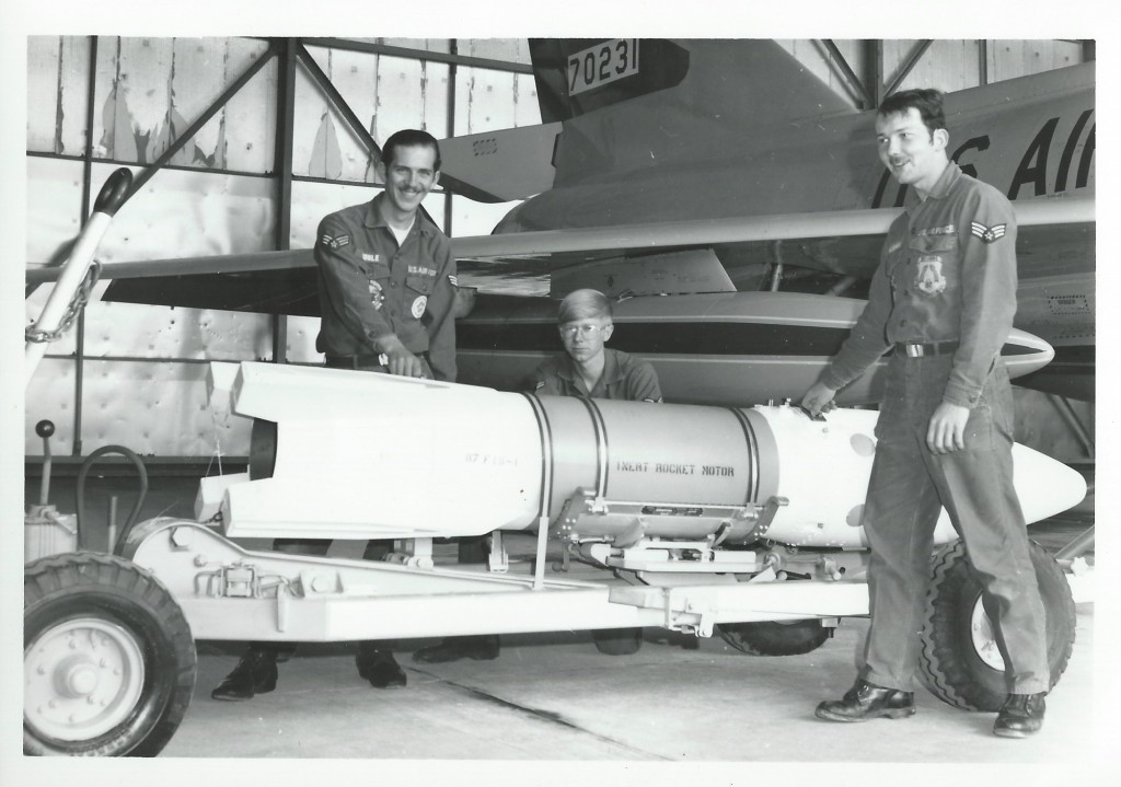 The crew of the 87th FIS ready to load a Genie Nuclear Rocket (Photo courtesy of John Roznick)