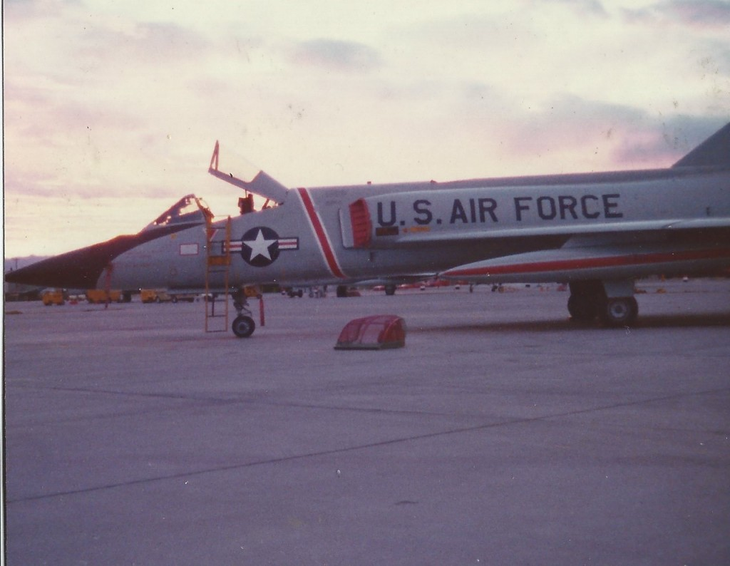 An F-106 of the 87th waiting for action (Courtesy of John Roznick)