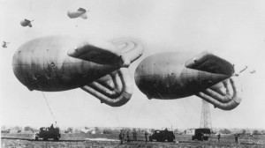 Barrage balloon similar to those used around the Soo Locks from 1942-43. (Hampshire Airfields)