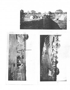 Three of the only pictures taken of the camp establishment - Photo use courtesy of Sparta Township Historical Society