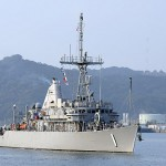The mine countermeasures ship USS Avenger (MCM 1) returns to its forward-deployed base at U.S. Fleet Activities Sasebo after participating in Exercise Foal Eagle 2011.