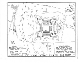Document showing the blueprint for the fort's design