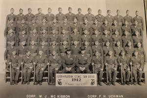 Richard and his basic training graduating class in 1942 (Used with the permission of the Simpson family)