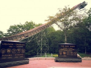 Headstone with the iconic Pine Mountain Ski Jump (From Trover)