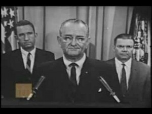 Lyndon Johnson during his address to the nation, 24 July, 1967