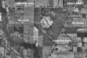 Aerial view of the base in 1993