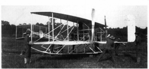 Orville Wright with the newly Army-owned Military Flyer