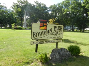 Bowman Memorial Park Sign (from flicker.com)