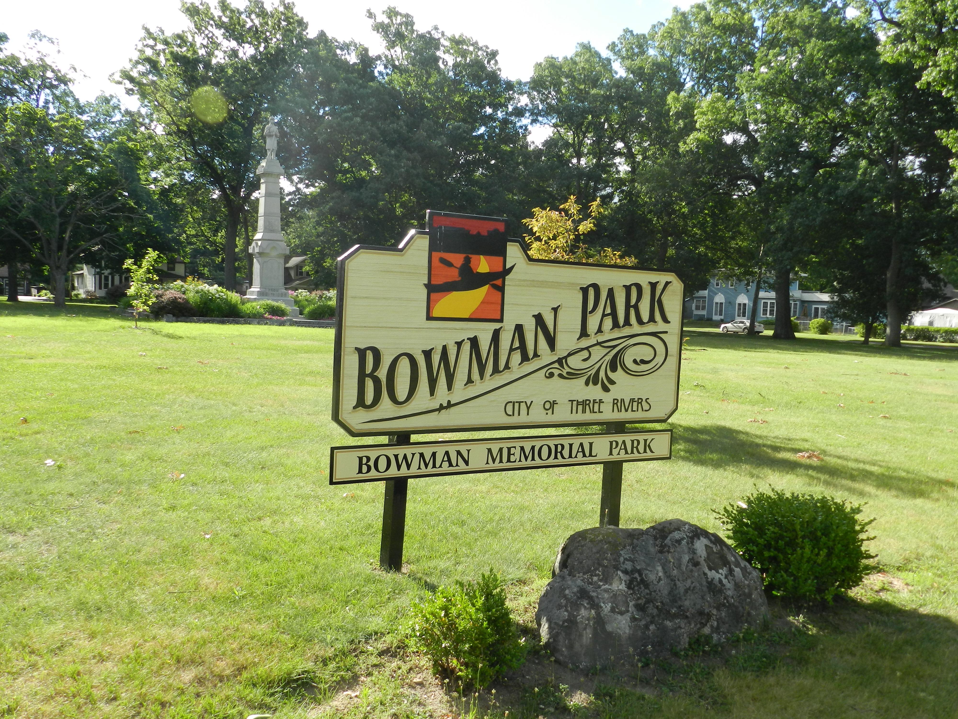 Bowman Memorial Park Sign (from flicker.com)